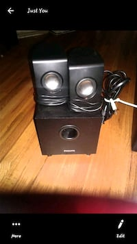 Philips SPA1330 Computer Speaker System - 2.1 Channel - 10W RMS