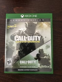 Call of Duty Infinite Warfare Xbox One game case Fremont, 94538