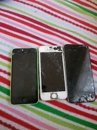 green iPhone 5c, silver iPhone 5s, and space gray iPhone 6 Salisbury