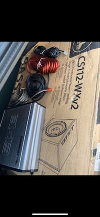 12 inch box with speaker and amp.