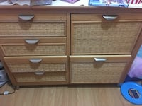 brown wooden 3-drawer chest Calgary, T2A 4V9