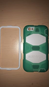 white and green survivor iPhone 6/6s case