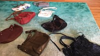 Assorted leather bag lot King City, 97224