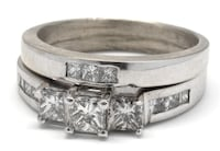 14K Princess-Cut Wedding Set