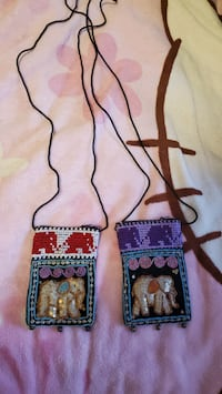 Handmade pouches from thailand (2 pcs)