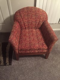 red and brown floral sofa chair Holly Hill, 32117