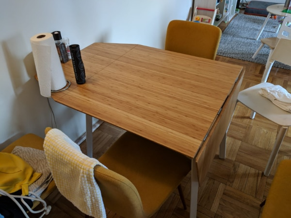 Dinning Table Ikea Ps 2017 Drop Leaf Bamboo White