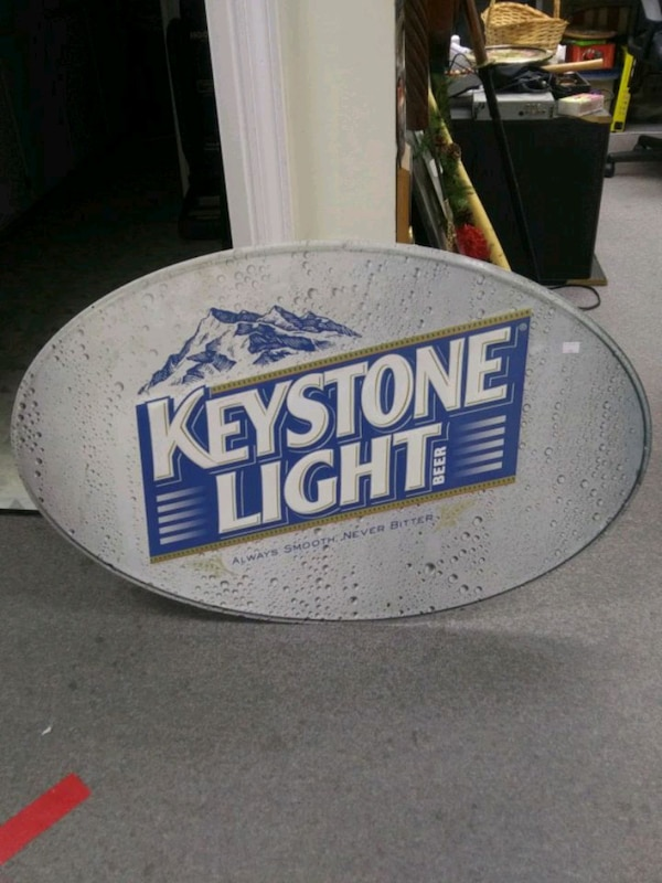 Keystone Light Metal Sign 78c46df1-415c-4546-949e-bff0561027b7