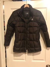 Brown North Face zip-up bubble jacket Lutherville Timonium, 21093