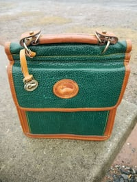 green and brown leather crossbody bag 416 mi