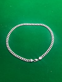 Silver chain link necklace with lobster lock Calgary, T2J 5Z4