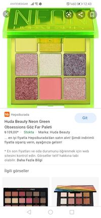 Huda beauty neon palet