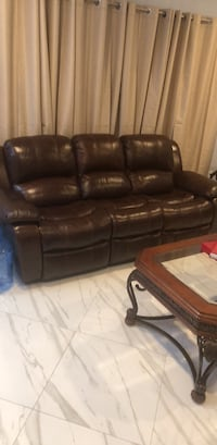 brown leather 3-seat sofa Eastchester, 10709
