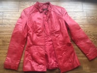 $90 Danier Leather Size XS But Fits Like Small Jacket Lipstic Burlington