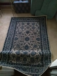 black, white, and blue floral area rug Suitland-Silver Hill, 20746