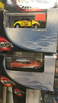 black and red Hot Wheels car die-cast Whittier, 90602