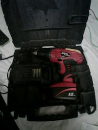 12 volt cordless drill and 2 batteries and charger