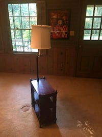 Wooden end table and floor lamp McLean, 22101