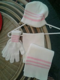 Pink and white scarf/gloves/hat Knoxville, 37918