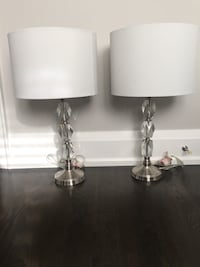 two white and gray table lamps Mississauga, L4Y 3T1