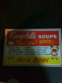 Metal Cambells soup sign Woodbridge, 22192