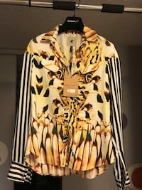 Bnib Silk animal print Blouse S size