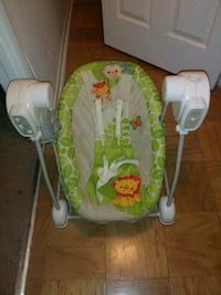 baby's green and white swing chair Greenbelt, 20770