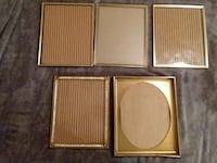 5 gold colored picture frames  Laureldale