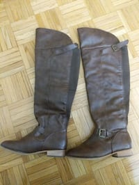 Brown  long boots size 7 used once only Mississauga, L5C 1Y5