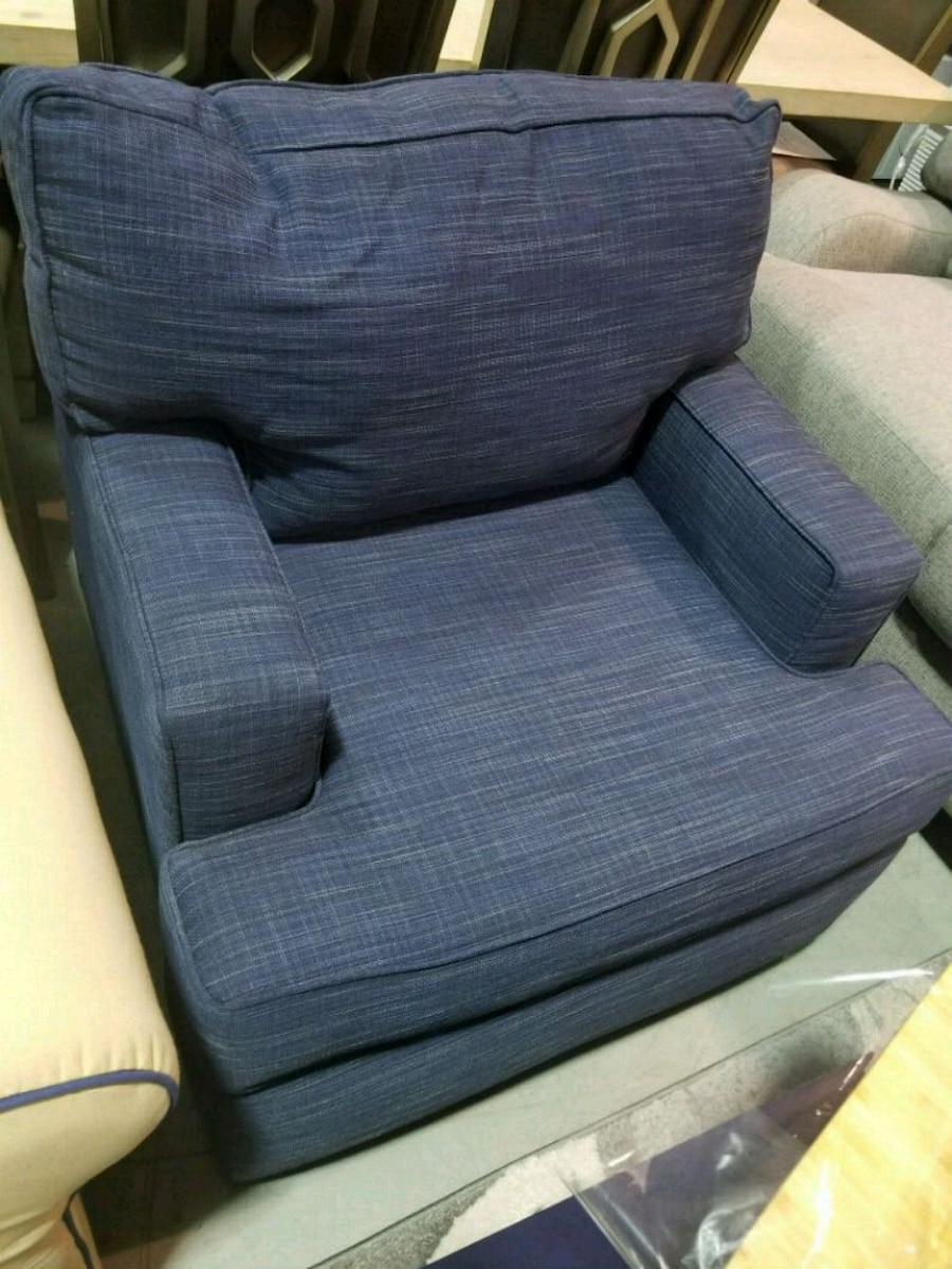 used gray fabric sofa chair with ottoman for sale in indianapolis rh us letgo com