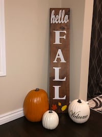 Hello fall porch wood sign! Bradford