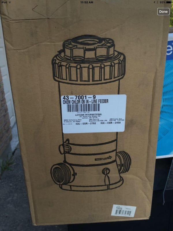 NEW IN-Line chlorinator - for inground or above ground pools eea16ff7-480e-438e-9ed2-aab12fe11a62