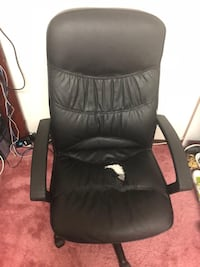 Black leather computer rolling armchair 3155 km