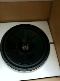 black and gray subwoofer speaker Thornton, L0L 2N0