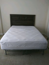 white bed mattress and brown wooden bed frame Germantown, 20874
