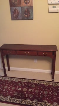 brown wooden single drawer side table Gaithersburg, 20879