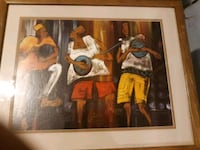 brown wooden framed painting of man and woman Riverside, 92507