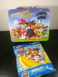 Paw Patrol Tin Lunch Box & 24pc Puzzle Set - Kid's Toys & Lunch Box Milwaukee
