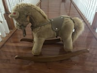 Gray and white rocking horse Boyds, 20841