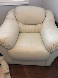 White Leather chair Oakville, L6M 3K3