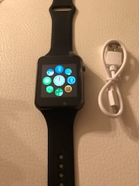 space gray aluminum case Apple Watch with black sport band Lewisville, 75067