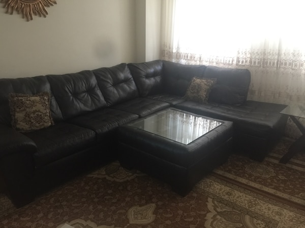 Used Beautiful Sectional Sofa With Accent Chair 3 Pieces Coffee