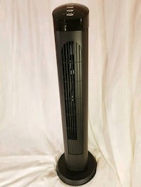 white and black tower fan cascade and mini ac unit Corona