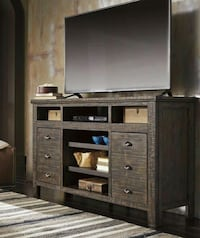 Trudell Dark Brown XL TV Stand   Houston
