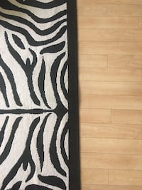 Zebra Print Rug 15'x7' Washington, 20018