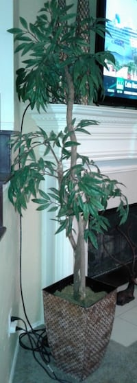 $68 Tall Tree in metal copper colored Stand