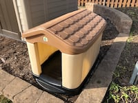 White and brown dog house!