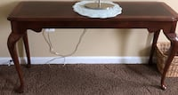 Rectangular brown wooden sofa table Ashburn, 20148