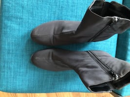 Pair of brown slip on low boots  size 10