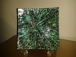 Glass Square Decoration Plate